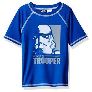 Star Wars Big Boys' Rashguard, Blue, 4